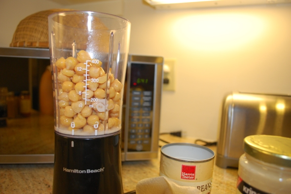 chickpeas and a blender!